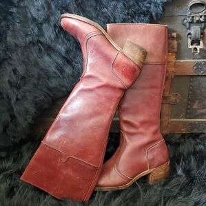 Dexter Boot Makers Vintage Distresse Leather Boots